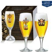 Conjunto de Taça de Cristal para Cerveja Gourmet M de 400ml 02 Peças