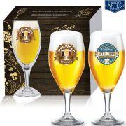 Conjunto de Taça de Vidro Cerveja Holsten de 400ml 2 pcs