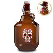 Growler de Vidro para Cerveja 2 Litros Mexican Style