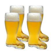 Copo Bota Cerveja Chopp Vidro Formato Stiefel M 620ml Kit c/ 04