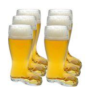 Copo Bota Cerveja Chopp Vidro Formato Stiefel M 620ml Kit c/ 06