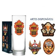Copo Cerveja de Vidro Tubo Rock Collection 300ml