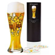 Copo de Cerveja Vidro Ritzenhoff Wheatbeer Glass Martina Schlenke 2009 500ml