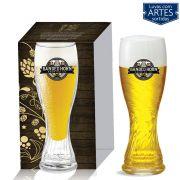 Copo De Vidro Para Cerveja Weiss Schachen Torcido De 710ml