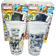 Copo Marvel Comics Capitão América E Thor 450ml Kit 2 Pcs