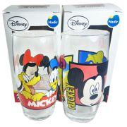 Copo Mickey E Minnie De Vidro Pluto Pateta 430ml 02pçs