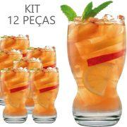 Copos De Suco Ou Água - Conjunto Jogo Aruba 300ml Kit 12 Pcs