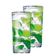 Jogo de Copo de Água Vidro Miragem Long Drink 300ml 2 Pcs