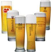Jogo de Copos de Cerveja Coleção Cervejas do Mundo 6 pçs
