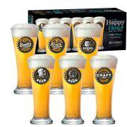 Jogo de Copos de Cerveja Pilsen 275ml 6 Pcs