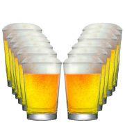 Jogo de  Copos de Cerveja Vidro Caldereta P 300ml 12 Pcs