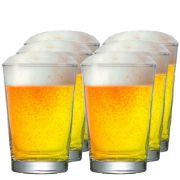 Jogo de  Copos de Cerveja Vidro Caldereta P 300ml 6 Pcs