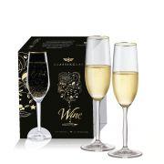 Jogo de Taça Champagne Cristal Ritz 195ml 2 pçs