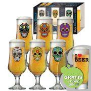 Jogo de Taça de Cerveja Barcelona Mexican Style 6 Pcs + Brinde