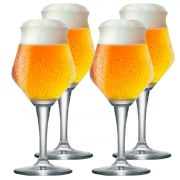 Jogo de Taça de Cerveja Crista Beer Sommelier Alta 460ml 4 Pcs