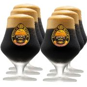 Jogo de Taça de Cerveja Cristal Baden Baden Stout 430ml 6 Pcs