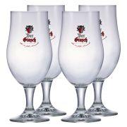 Jogo de Taça de Cerveja Vidro Der Grosh 490ml 4 Pcs