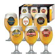 Jogo de Taça de Cerveja Vidro Roma 400 ml Luva 6 Pcs