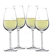 Jogo de Taça de Vinho Branco Aspergo Cristal 370ml 4 Pcs