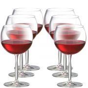 Jogo de Taça de Vinho Tinto Bordeaux Gran Cristal 550ml 6 Pcs