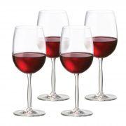 Jogo de Taça de Vinho Tinto Cristal Ritz 48ml 4 Pcs