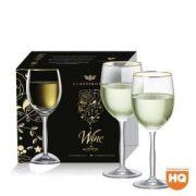 Jogo de Taça Vinho Branco Ritz de Cristal com 335ml 2 pçs