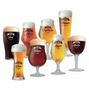 Jogo de Taças Beer Sommelier Cervejas Claras e Escuras 8 Pcs