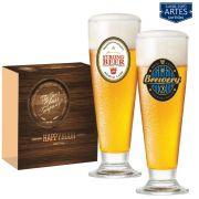 Jogo de Taças de Cerveja HH Tulipa 220ml Luva 2 Pcs