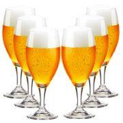 Jogo de Taças de Cerveja Holsten Crystal 400ml 6 Pcs