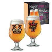 Jogo de Taças de Cerveja Vidro Rock Collection Beer Master 380ml - 2 Peças