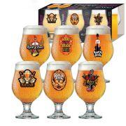 Jogo de Taças de Cerveja Vidro Rock Collection Beer Master 380ml - 6 Peças