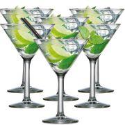 Jogo de Taças de Martini Vidro 265ml 6 Pcs