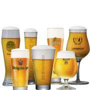 Kit Coleção de Taças e Copos Cervejas do Mundo 7 pçs