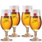 Taça Cerveja - Copo Cerveja Dado Bier Lager 370ml C/ 4 Pcs