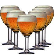 Taça Cerveja Copo Jogo Conjunto Abadia Vidro 550ml Kit 6 Pcs