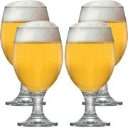 Taça Cerveja - Jogo Conjunto Copo Tulipa Kit Roma 4 Pcs