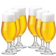 Taça Cerveja Pilsen Nevada Cristal 370ml Kit c/ 06 Peças