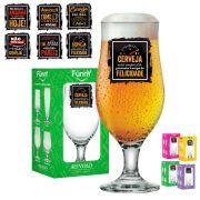 Taça de Cerveja Vidro Funny Royal Beer 330 ml