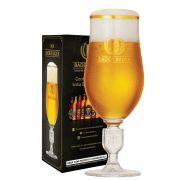 Taça de Cristal para Cerveja Baden Baden Brasão Relevo de 370ml Kit c/ 04