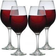 Taça de Vinho Tinto Vidro 385ml 4 pcs