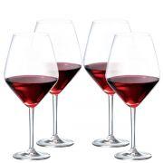 Taça Vinho - Crsital Vinho Tinto Elegance 775ml C/ 4 Pcs