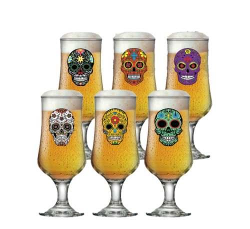 Jogo de Taça de Cerveja Barcelona Mexican Style 6 Pcs