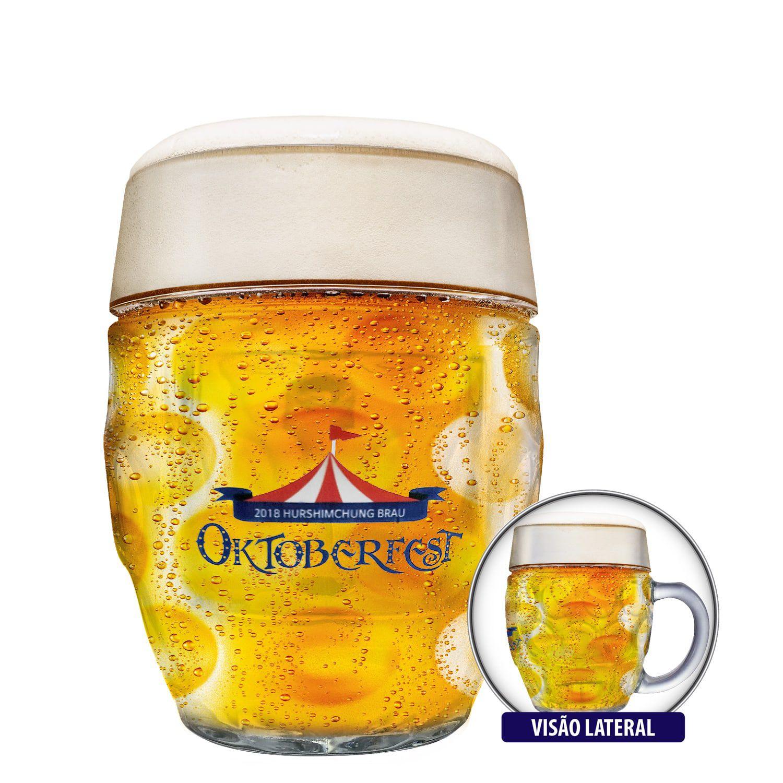 Caneca Cerveja Chopp Vidro Oktoberfest Hurshimchung Bräu 500ml