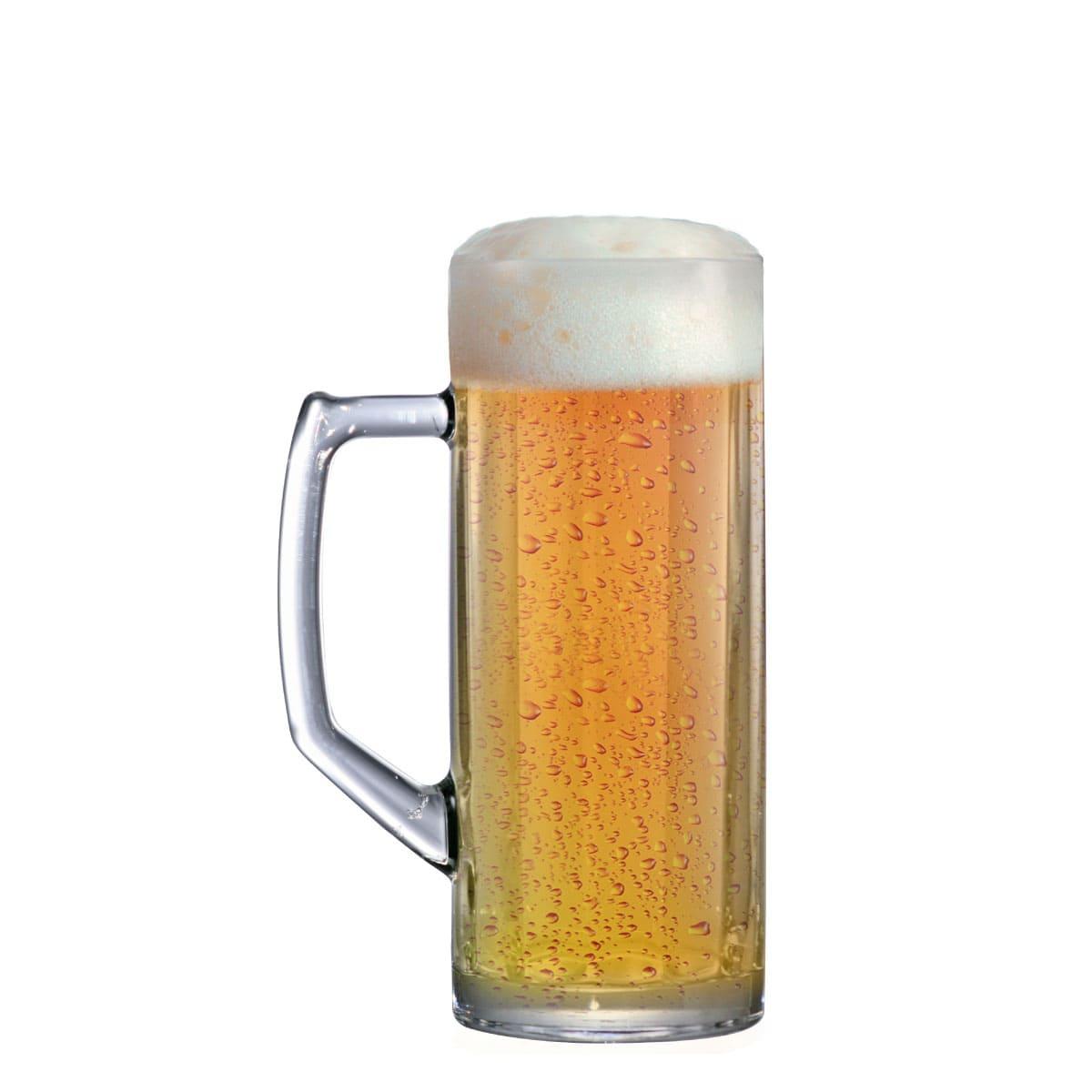 Caneca Cerveja Chopp Vidro Reno Canelada M