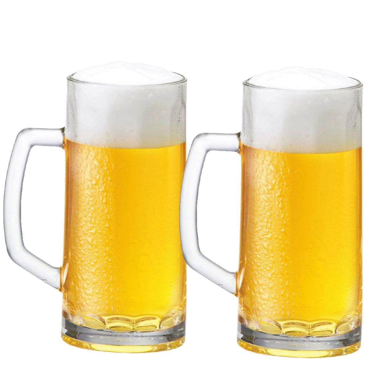 Caneca Chopp Cerveja Berna Canelada G 635ml Jogo Kit 2 Pcs
