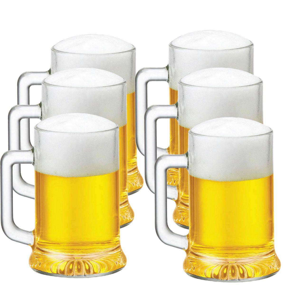 Caneca Chopp Cerveja Star 695ml Jogo Conjunto Kit 6 Pcs