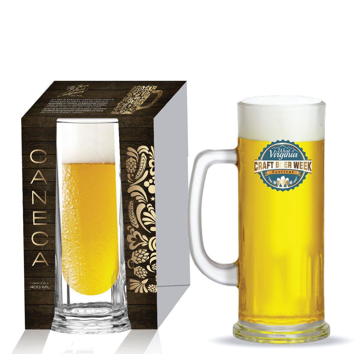 Caneca Chopp Cerveja Vidro Europa de 380ml