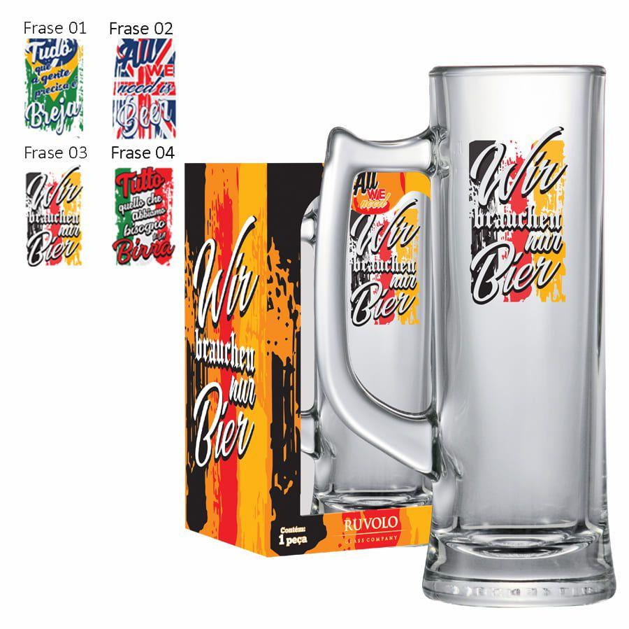 Caneca de Cerveja Vidro Sauerland 280ml All We Need