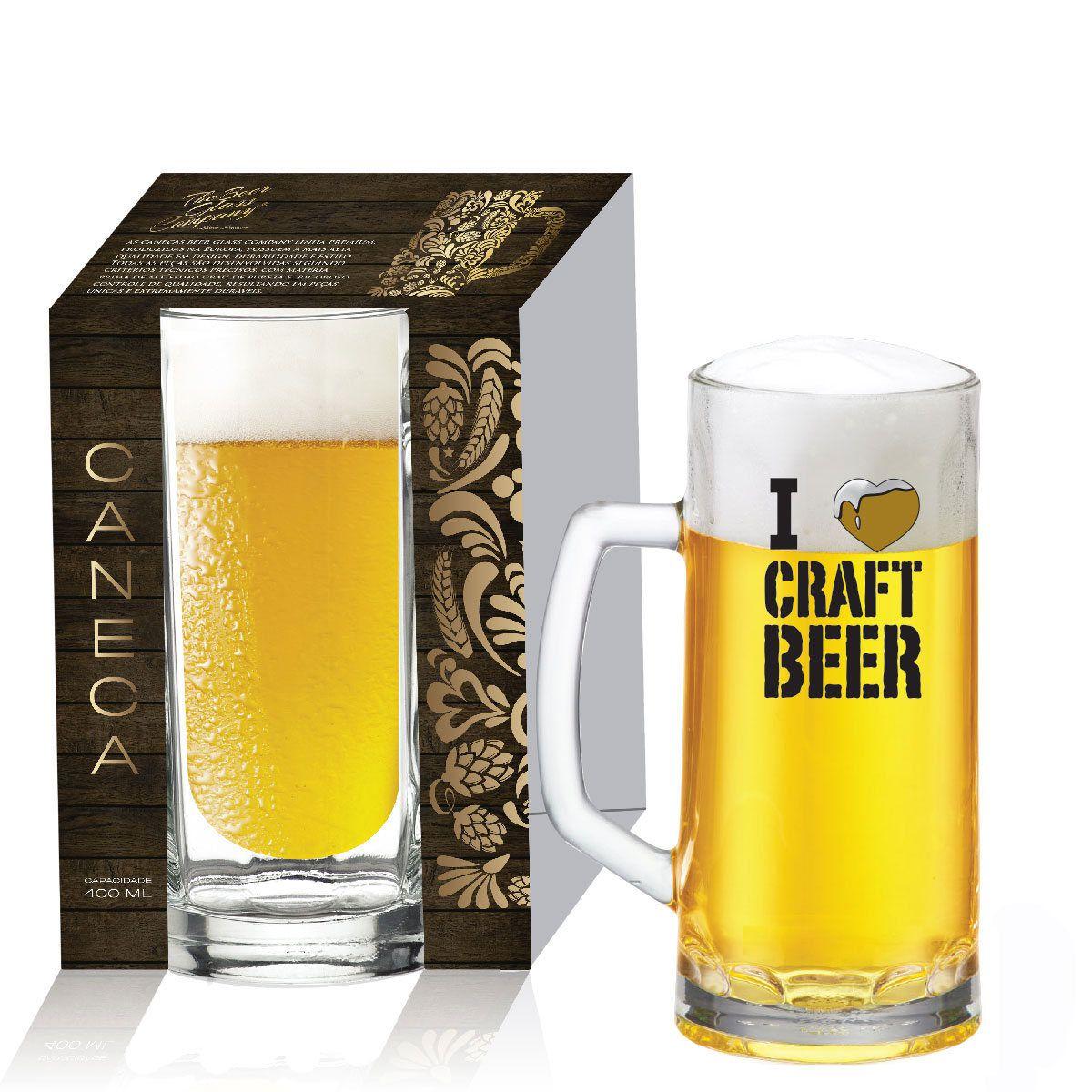 Caneca de Chopp Cerveja Vidro 400Ml Berna Canelada