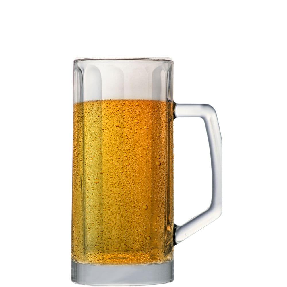 Caneca de Chopp de Vidro ou Cerveja Berna Canelada M 300ml